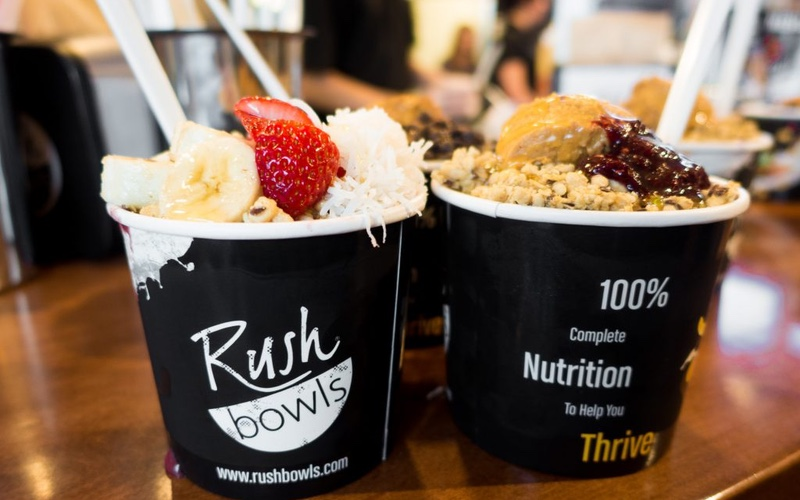 Group of Acai Bowls at a Healthy Food Franchise