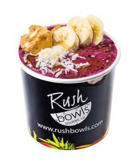 Acai Bowl with Sliced Banana from a Healthy Food Franchise