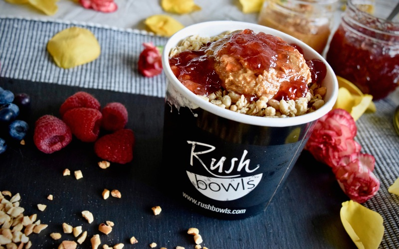 PB&J Acai Bowl at a Healthy Food Franchise
